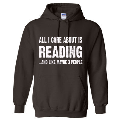 All i care about is READING - Heavy Blend™ Hooded Sweatshirt - FRONT AND BACK PRINT - Cool Jerseys - 1
