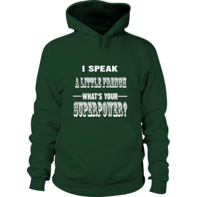 I Speak A Little French - Hoodie S-Forest Green- Cool Jerseys - 1