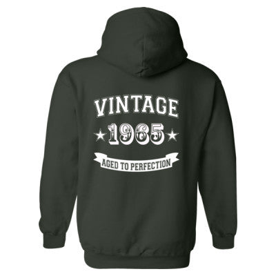 Vintage 1965 Aged To Perfection - Heavy Blend™ Hooded Sweatshirt BACK ONLY S-Forest- Cool Jerseys - 1