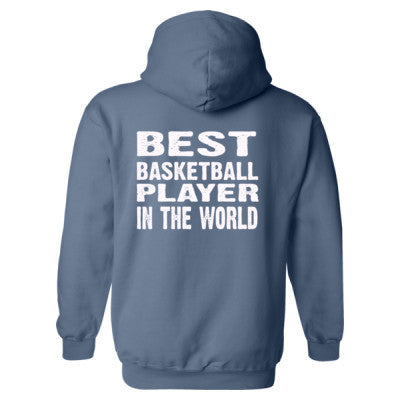 Best Basketball Player In The World - Heavy Blend™ Hooded Sweatshirt BACK ONLY S-Indigo Blue- Cool Jerseys - 1