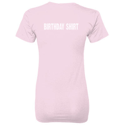Birthday shirt - Ladies' 100% Ringspun Cotton nano-T® Back Print Only - Cool Jerseys - 1