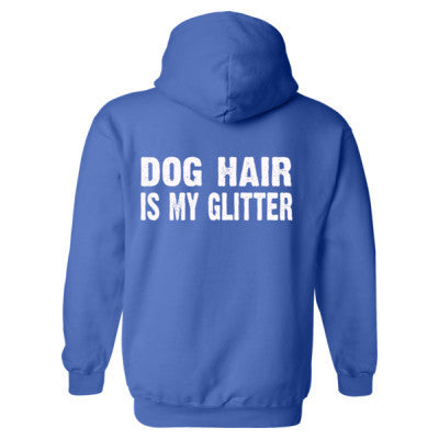 Dog Hair is my glitter tshirt - Heavy Blend™ Hooded Sweatshirt BACK ONLY S-Royal- Cool Jerseys - 1