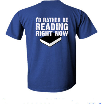 Book t shirts - Ultra-Cotton T-Shirt Back Print Only S-Metro Blue- Cool Jerseys - 1