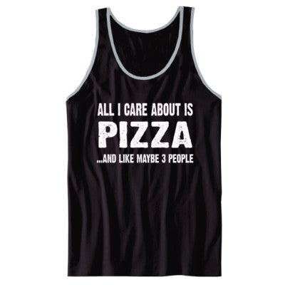 All i Care About Is Pizza tshirt - Unisex Jersey Tank XS-Black- Cool Jerseys - 1