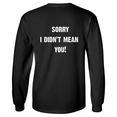 Hey Good Lookin - Long Sleeve T-Shirt - FRONT AND BACK PRINT S-Black- Cool Jerseys - 2