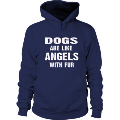 Dogs Are Like Angels With Fur Hoodie S-Navy- Cool Jerseys - 1
