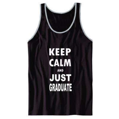 Keep Calm And Just Graduate - Unisex Jersey Tank XS-Black- Cool Jerseys - 1