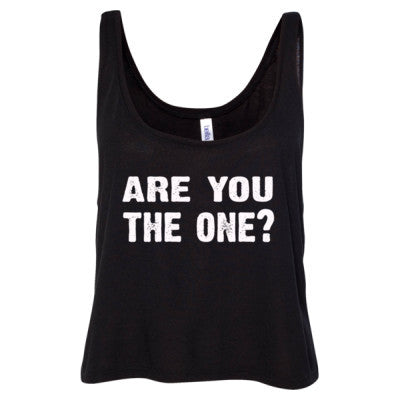 Are you the one tshirt - Ladies' Cropped Tank Top S-Black- Cool Jerseys - 1