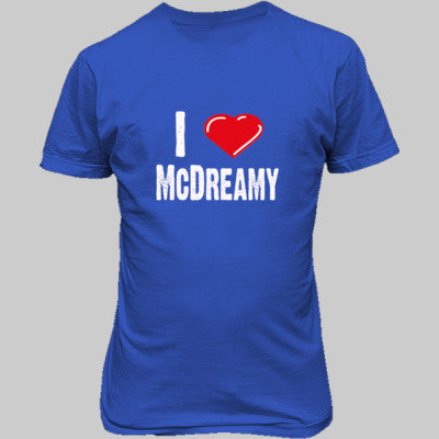 I Love McDreamy tshirt - Unisex T-Shirt FRONT Print S-Antique Royal- Cool Jerseys - 1