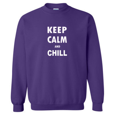 Keep Calm And Chill - Heavy Blend™ Crewneck Sweatshirt S-Purple- Cool Jerseys - 1