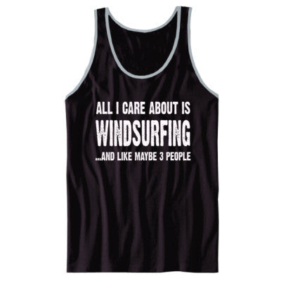 All i Care About Windsurfing And Like Maybe Three People tshirt - Unisex Jersey Tank XS-Black- Cool Jerseys - 1
