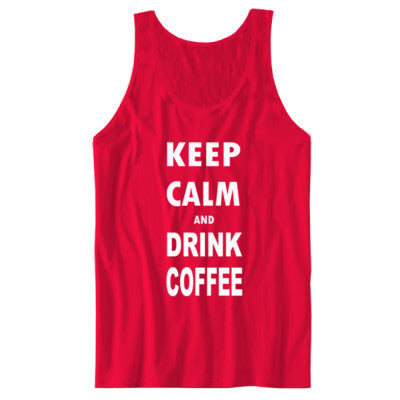 Keep Calm And Drink Coffee - Unisex Jersey Tank - Cool Jerseys - 1