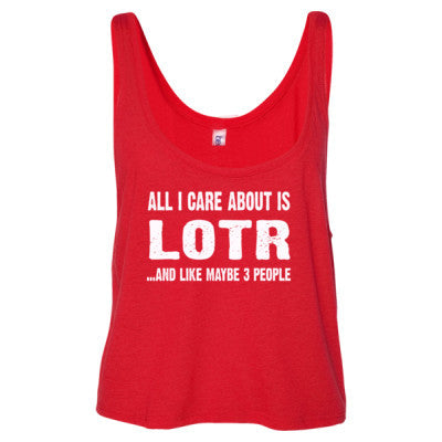 All i Care About Is LOTR tshirt - Ladies' Cropped Tank Top S-Red- Cool Jerseys - 1