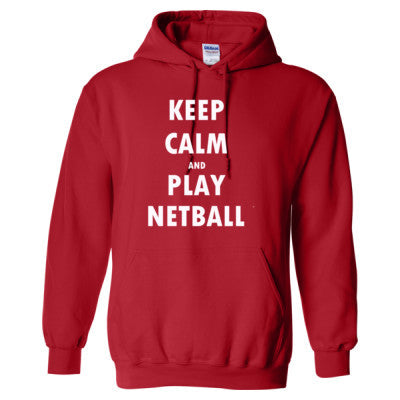 Keep Calm And Play Netball - Heavy Blend™ Hooded Sweatshirt - Cool Jerseys - 1