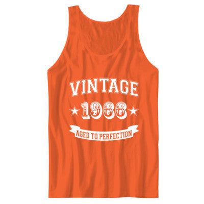 Vintage 1966 Aged To Perfection - Unisex Jersey Tank XS-Orange- Cool Jerseys - 1