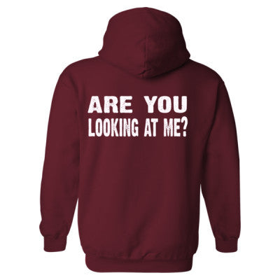 Are you looking at me Heavy Blend™ Hooded Sweatshirt BACK ONLY S-Garnet- Cool Jerseys - 1