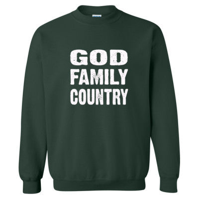 God Family Country - Heavy Blend™ Crewneck Sweatshirt S-Forest- Cool Jerseys - 1