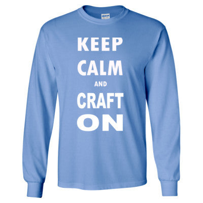 Keep Calm And Craft On - Long Sleeve T-Shirt - Cool Jerseys - 1