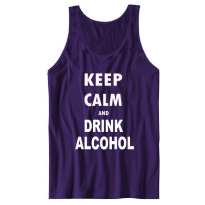 Keep Calm And Drink Alcohol - Unisex Jersey Tank - Cool Jerseys - 1