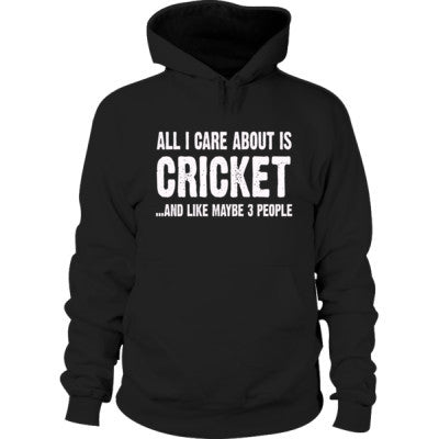 All i Care About Cricket And Like Maybe Three People Hoodie S-Black- Cool Jerseys - 1