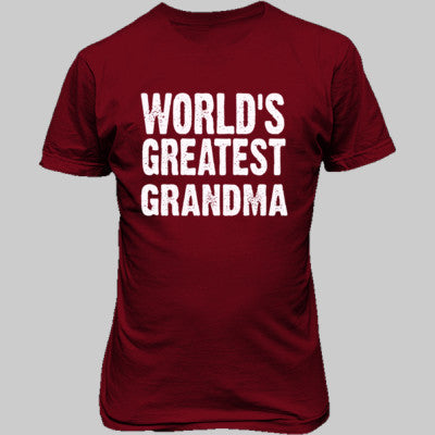 Worlds Greatest Grandma - Unisex T-Shirt FRONT Print - Cool Jerseys - 1