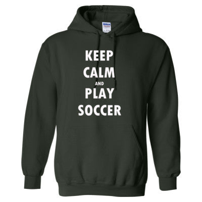 Keep Calm And Play Soccer - Heavy Blend™ Hooded Sweatshirt - Cool Jerseys - 1