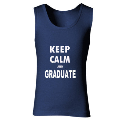 Keep Calm And Graduate - Ladies' Soft Style Tank Top S-Navy- Cool Jerseys - 1