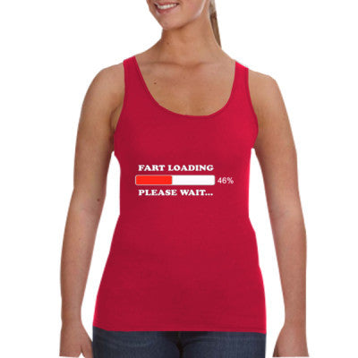 Fart Loading Please Wait - Ladies Tank Top S-Independence Red- Cool Jerseys - 1