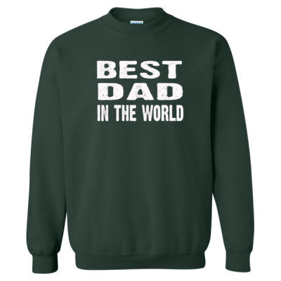 Best Dad In The World - Heavy Blend™ Crewneck Sweatshirt S-Forest- Cool Jerseys - 1