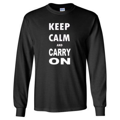 Keep Calm and Carry On - Long Sleeve T-Shirt - Cool Jerseys - 1