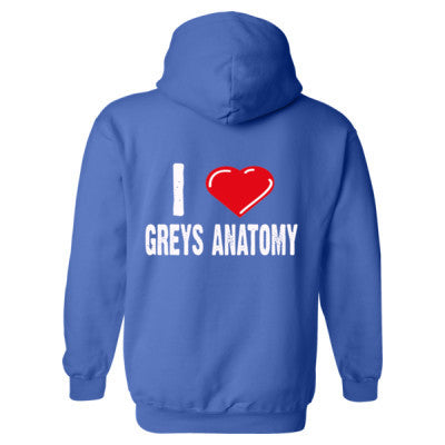I Love Grey's Anatomy Shirts - Heavy Blend™ Hooded Sweatshirt BACK ONLY S-Royal- Cool Jerseys - 1