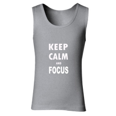 Keep Calm And Focus - Ladies' Soft Style Tank Top S-Sport Grey (Rs)- Cool Jerseys - 1