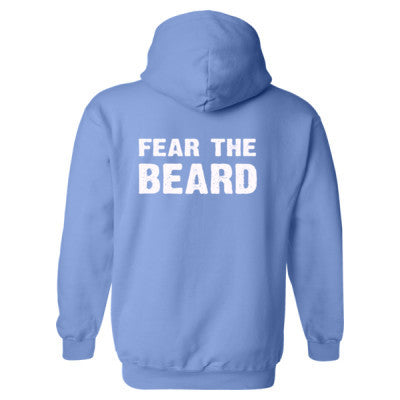 Fear The Beard Heavy Blend™ Hooded Sweatshirt BACK ONLY S-Carolina Blue- Cool Jerseys - 1