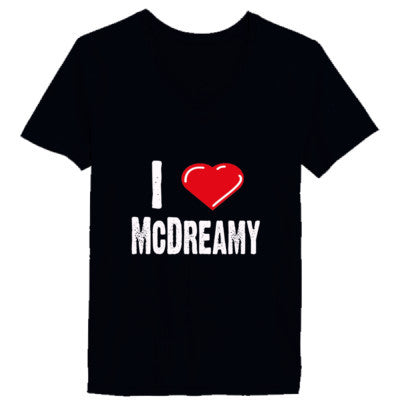 I Love McDreamy tshirt - Ladies' V-Neck T-Shirt XS-Vintage Black- Cool Jerseys - 1