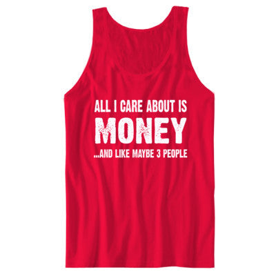 All i Care About Is Money tshirt - Unisex Jersey Tank XS-Red- Cool Jerseys - 1