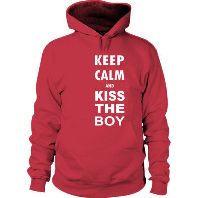 Keep Calm And Kiss The Boy - Hoodie S-Cardinal Red- Cool Jerseys - 1