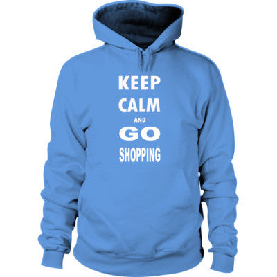 Keep Calm And Go Shopping - Hoodie S-Carolina Blue- Cool Jerseys - 1