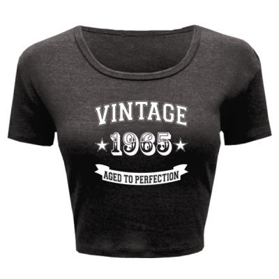 Vintage 1965 Aged To Perfection - Ladies' Crop Top - Cool Jerseys - 1
