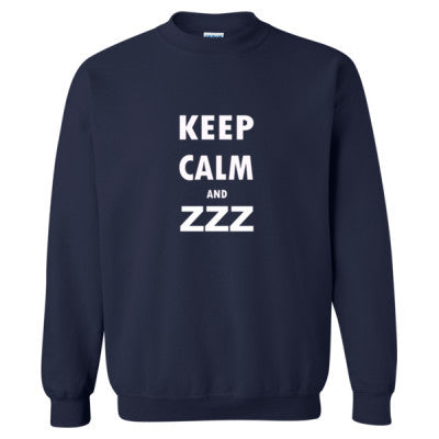 Keep Calm And ZZZ - Heavy Blend™ Crewneck Sweatshirt S-Navy- Cool Jerseys - 1