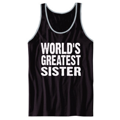 Worlds Greatest Sister - Unisex Jersey Tank XS-Black- Cool Jerseys - 1