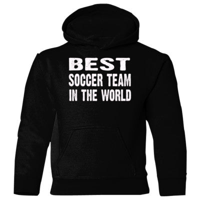 Best Soccer Team In The World - Heavy Blend Children's Hooded Sweatshirt S-Black- Cool Jerseys - 1