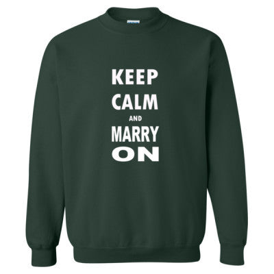 Keep Calm And Marry On - Heavy Blend™ Crewneck Sweatshirt S-Forest- Cool Jerseys - 1