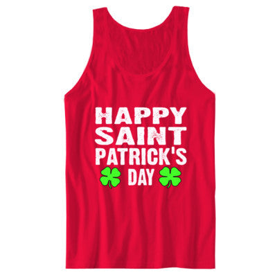Happy St Patricks Day - Unisex Jersey Tank S-Red- Cool Jerseys - 1