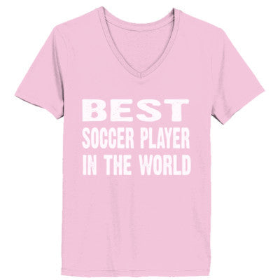 Best Soccer Player In The World - Ladies' V-Neck T-Shirt - Cool Jerseys - 1