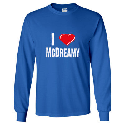 I Love McDreamy tshirt - Long Sleeve T-Shirt S-Royal- Cool Jerseys - 1