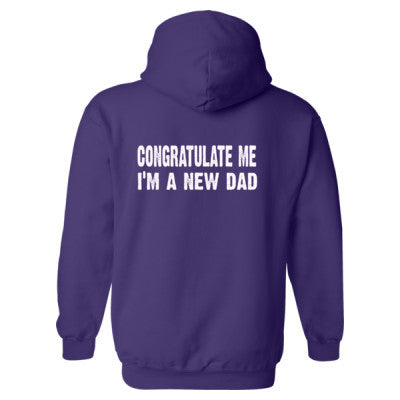 Congratulate me im a new dad Heavy Blend™ Hooded Sweatshirt BACK ONLY S-Purple- Cool Jerseys - 1