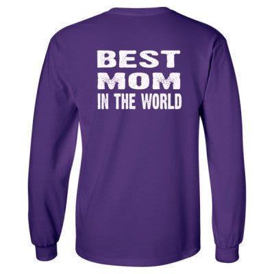 Best Mom In The World - Long Sleeve T-Shirt - BACK PRINT ONLY S-Purple- Cool Jerseys - 1