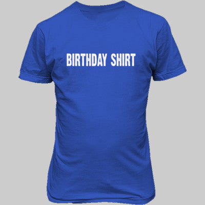 Birthday shirt - Unisex T-Shirt FRONT Print S-Antique Royal- Cool Jerseys - 1