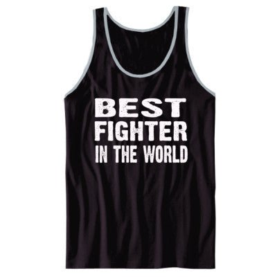 Best Fighter In The World - Unisex Jersey Tank XS-Black- Cool Jerseys - 1