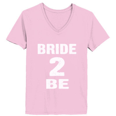 Bride To Be Tshirt - Ladies' V-Neck T-Shirt XS-Pale Pink- Cool Jerseys - 1